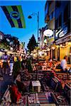Restaurants dans le quartier de Sultanahmet, Istanbul, Turquie