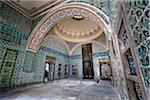 Salle à l'intérieur de l'Imperial Harem, Palais de Topkapi, Istanbul, Turquie