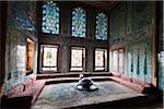 Sitzecke im Imperial Harem, Topkapi Palast, Istanbul, Türkei
