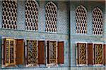 Auszug von Windows in Imperial Harem, Topkapi Palast, Istanbul, Türkei