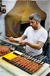 Kebab du vendeur, le Grand Bazar, Istanbul, Turquie