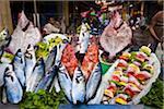 Fish Stand, off Istiklal Caddesi, Beyoglu District, Istanbul, Turkey