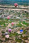 Hot Air Balloons over Goreme Valley, Cappadocia, Turkey