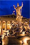 Pallas-Athene Fountain in front of Austrian Parliament Building, Vienna, Austria