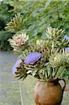 Bouquet de fleurs d'artichaut