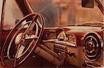 Interior of Classic Automobile