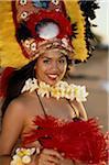 Junge Hula-Tänzerin, portrait