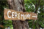 Ceremony Sign, Muskoka, Ontario, Canada