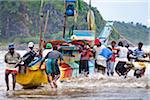Fishermen Moving Boat, Galle, Sri Lanka