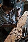 Wood Carving, Naula, Central Province, Sri Lanka