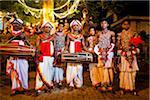 Portrait de batteurs, Esala Perahera Festival, Kandy, Sri Lanka