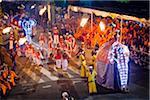 Elefanten in Prozession, Esala Perahera Festival, Kandy, Sri Lanka