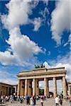 Crowds of People at Brandenburg Gate, Berlin, Germany
