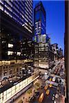 Vue d'ensemble de Madison Avenue, New York, New York, USA