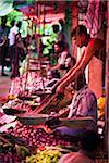 Vegetable Stand at Market, Payagala South, Sri Lanka