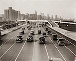 AUTOMOBILE DES ANNÉES 1920 - ANNÉES 1930 TRAFIC CHICAGO ILLINOIS