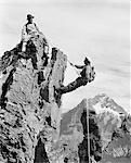 FÜNFZIGER JAHRE - SECHZIGER JAHRE KLETTERER SKALIERUNG SWISS MOUNTAIN