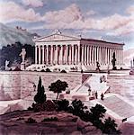 SEPT MERVEILLES DE L'ANCIEN MONDE ILLUSTRATION 550BC TEMPLE D'ARTÉMIS À ÉPHÈSE DE DIANA
