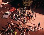 1960s - 1970s BOSTON PEDESTRIANS  CROSSING STREET  AT CORNER