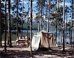 1970s - 1980s FAMILY CAMPING STANLEY LAKE SAWTOOTH MOUNTAINS IDAHO USA