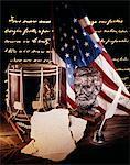 DU XIXE SIÈCLE - ANNÉES 1860 BUSTE DE NATURE MORTE DE GUERRE CIVILE AMÉRICAINE ABRAHAM LINCOLN DRUM QUILL PEN TEXTE DU DISCOURS DE GETTYSBURG