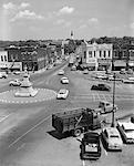 ANNÉES 1950 MAIN STREET DE PETITE VILLE AMÉRIQUE TOWN SQUARE LIBAN TENNESSEE