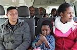 Mutter und Tochter in dem Taxi, Fish Hoek, Kapstadt, Westkap, Südafrika