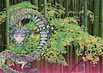 Bamboo and dragon