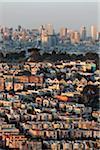 Residential Neighbourhood and City Skyline, San Francisco, California, USA