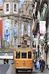 Portugal, Porto, Cais de Ribeira, church of Santa Clara and tramway