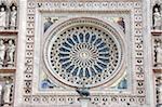 Italy, Umbria region, Orvieto, duomo, mosaic, rose window