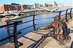 Ireland, Dublin, the linesman along river Liffey