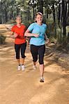 Zwei Frauen Joggen im Wald
