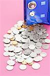 Safe mit Münzen