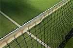 Close up of tennis net