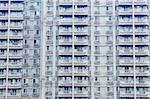 Closeup of an apartment block in Xian, China