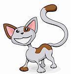 A cute happy smiling cat cartoon illustration