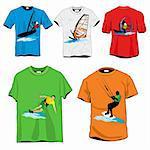 Windsurfers T-shirts Set