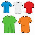 5 T-shirts Template Set