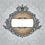 abstract royal ornate vintage frame vector illustration