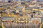Bird's-eye View Panorama of Paris Rooftops