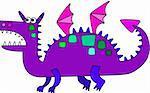 Cartoon colored dragon symbol of new year