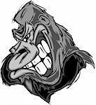 Cartoon Image of a Gorilla or Ape