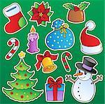 Christmas season theme 1 - vector illustration.
