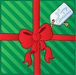 Christmas theme greeting card 4 - vector illustration.