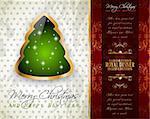 Fond de salutations de Noël classique élégant avec jolie arbre idéal pour les flyers, invitations, cartes ou des affiches.