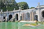 Famous Italian gardens of Reggia di Caserta, Italy.