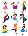 cartoon dancer set