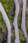 Part of Trollstigen pass in Norway as seen from viewing platform