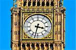 Closeup of Big Ben in London, United Kingdom